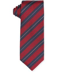 Isaia - Striped Silk Tie - Lyst