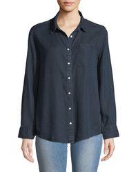 DL1961 - Nassau & Manhattan Lace-up Button-front Shirt - Lyst