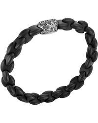 John Hardy - Men's Batu Classic Chain Silver And Black Agate Bracelet - Lyst