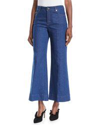 ESCADA - Wide-leg Cropped Jeans - Lyst