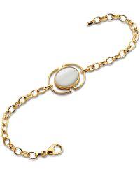 Monica Rich Kosann - Mother-of-pearl Locket Station Bracelet In 18k Yellow Gold - Lyst