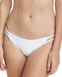 Pilyq - Macrame Braided Solid Swim Bikini Bottom - Lyst