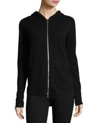 ATM - Cashmere-blend Zip Front Hooded Jacket - Lyst
