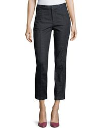 Tory Burch - Vanner High-rise Ankle Jeans - Lyst