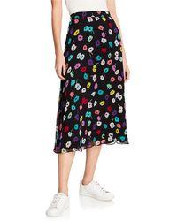 1397b898af ESCADA - Daisy-print Crepe Midi Skirt - Lyst