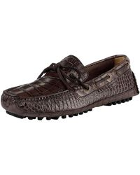 Cole Haan - Grant Canoe Camp Casual Croco-embossed Loafers - Lyst