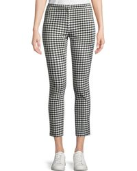 Theory | Classic Skinny Gingham Ankle Pants | Lyst