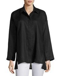 Go> By Go Silk - Linen Oversized Shirt - Lyst