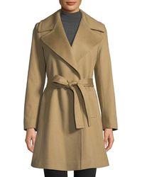 Fleurette - Cashmere Self-tie Wrap Coat - Lyst