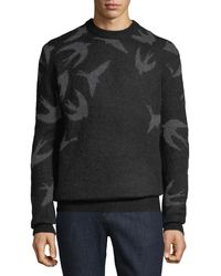 McQ - Men's Swallow Swarm Crewneck Sweater - Lyst