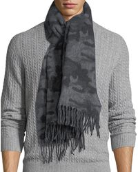 Canada Goose - Wool-blend Camouflage-print Scarf - Lyst