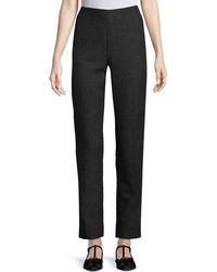 Lela Rose - High-waist Straight-leg Tweed Pants - Lyst