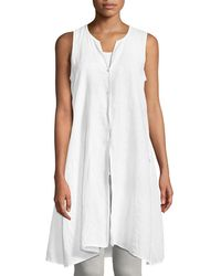 Eileen Fisher - Sleeveless Organic Handkerchief Linen Tunic - Lyst