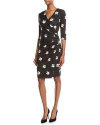 Anatomie - Marine Orchid-print Jersey Wrap Dress - Lyst