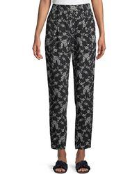 Co. - Stovepipe Floral-print Straight-leg Gabardine Pants - Lyst