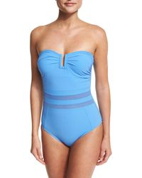 Shan - Do You Think I'm Sexy Bandeau One-piece Swimsuit - Lyst