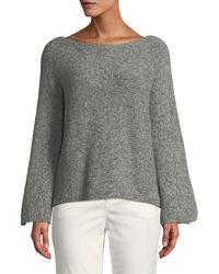 Eileen Fisher - Alpaca-cotton Boat-neck Pullover Sweater - Lyst