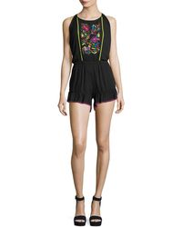 Nanette Lepore - Isla Marietas Sleeveless Romper W/ Embroidery - Lyst