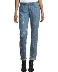 MICHAEL Michael Kors - Dillon Jeweled Straight-leg Jeans - Lyst