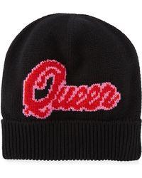 Dolce & Gabbana - Queen D&g Knit Beanie Hat - Lyst