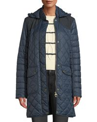 Barbour - Greenfinch Box-quilted Jacket W/ Detachable Hood - Lyst