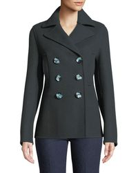 JOSEPH - New Hector Short Fitted Pea Coat - Lyst