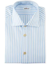 Kiton - Men's Large Bengal Striped Dress Shirt - Lyst