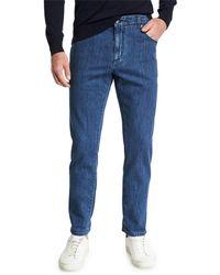 Isaia - Men's Dark Wash Straight-leg Jeans - Lyst