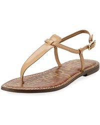 e1d82c13dbf7d2 Sam Edelman - Gigi Patent Leather Flat Thong Sandal - Lyst