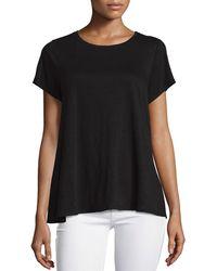 Eileen Fisher - Short-sleeve Organic Linen Jersey Swing Tee - Lyst