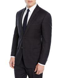 Emporio Armani - Men's Plaid Two-piece Wool Suit - Lyst