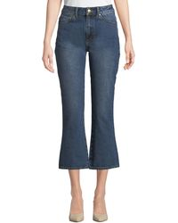 Co. - High-rise Five-pocket Flared-leg Cropped Jeans - Lyst