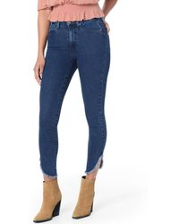 Joe's Jeans - Honey Dolphin Frayed Hem Ankle Jeans - Lyst
