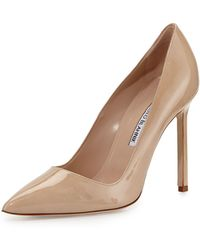 Manolo Blahnik - Bb Patent 105mm Pointed-toe Pump - Lyst