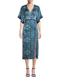 Nanette Lepore - Jokers Short-sleeve Printed Midi Dress - Lyst