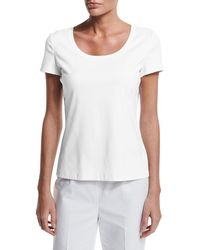 Lafayette 148 New York - Short-sleeve Cotton Tee - Lyst
