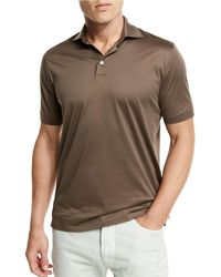 Ermenegildo Zegna - Mercerized Cotton Polo Shirt - Lyst