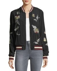 Philosophy - Embroidered Crepe Bomber Jacket - Lyst