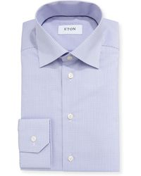 Eton of Sweden - Contemporary-fit Tattersall Dress Shirt - Lyst