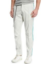 Ovadia And Sons - Sideline Track Pants With Striped Taping - Lyst
