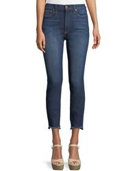 AO.LA by alice + olivia - Good High-rise Skinny Jeans With Staggered Hem - Lyst