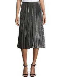 Lafayette 148 New York - Ranella Pleated Velvet Skirt - Lyst