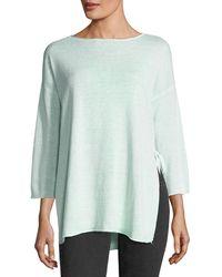 Eileen Fisher - Organic Linen 3/4-sleeve Top - Lyst