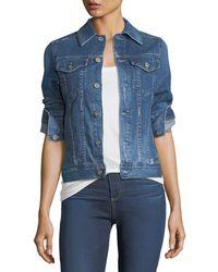 AG Jeans - Mya Button-down Denim Jacket - Lyst