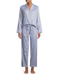 Derek Rose - Milly Striped Classic Pajama Set - Lyst