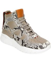 760a15c8be25 Bally - Birko Snake-effect Leather High-top Sneakers - Lyst