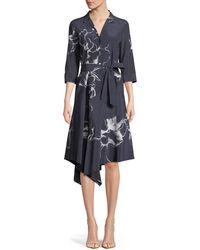 Lafayette 148 New York - Casimir Desert Bloom Silk Dress - Lyst