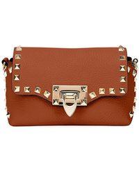 Valentino - Rockstud Mini Leather Crossbody Bag - Lyst