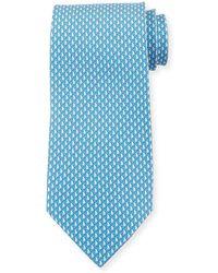 Ferragamo - Men's Sailboat Silk Tie - Lyst