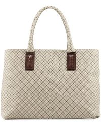 Bottega Veneta - Medium Intrecciato-trim Stamped Rubber Tote Bag - Lyst